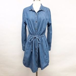 tommy hilfiger | denim chambray tie-waist dress